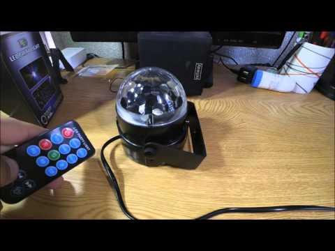 Bola de luz  efectos cristal con mando /3W RGB LED Crystal Ball Stage Effect With Remote Control