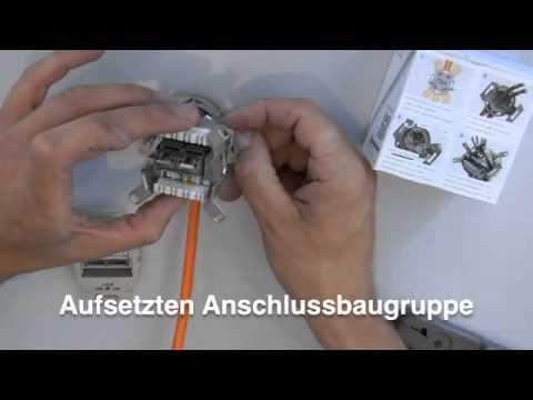 Rutenbeck Kompakt-Universal-Anschlussdose Montagevideo