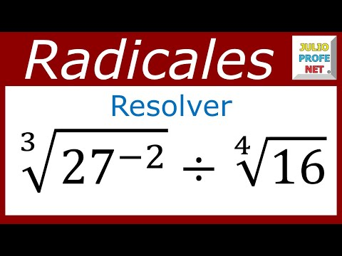raíces con diferentes índices - Julio Ríos explica cómo efectuar la división de dos radicales numéricos. Blog: http://www.julioprofe.net Academia Julioprofenet: http://www.amarillasinternet...