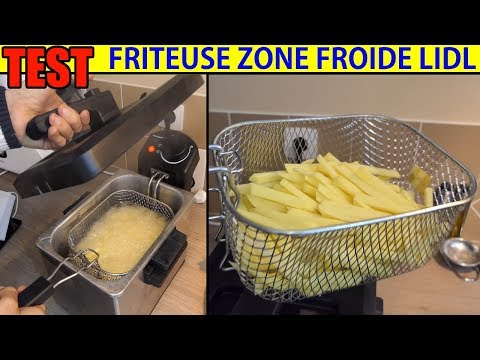 friteuse lidl silvercrest zone froide sef 2300w cool-zone deep fat fryer kaltzonen-fritteuse