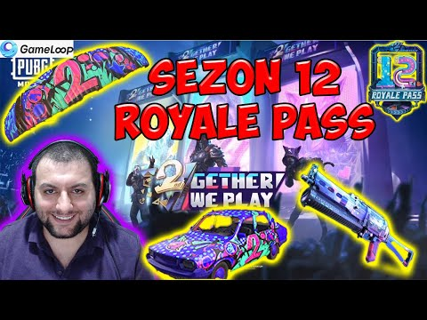 ROYALE PASS 12. SEZON ÖDÜLLERİ PUBG MOBİLE - SEASON 12 ROYALE PASS REWARD
