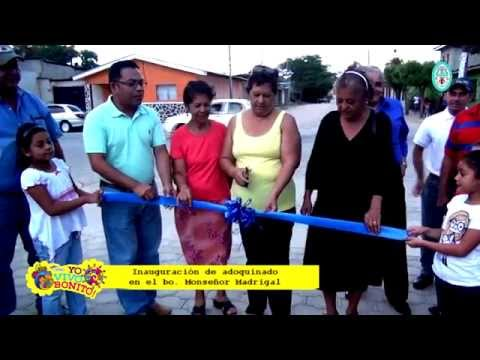 Inauguración Adoquinado de 3 cuadras en el barrio Monseñor Madrigal de Ocotal Nueva Segovia