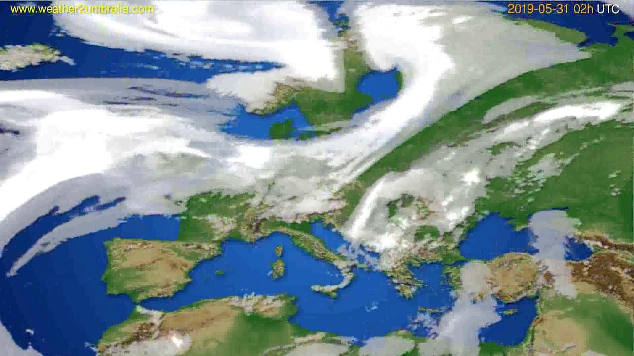 Cloud forecast Europe // modelrun: 12h UTC 2019-05-28