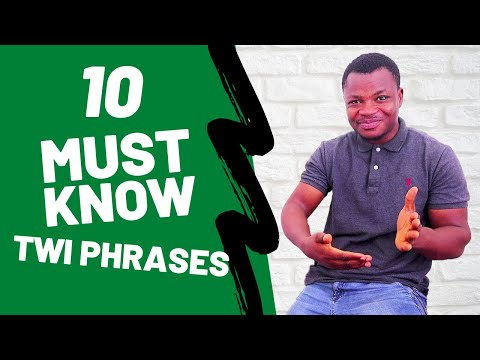 10 Must-Know Twi Phrases for Learners and Tourists | Conversational Twi | Learn Akan