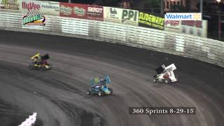 Knoxville Raceway 360 Sprints 8-29-15