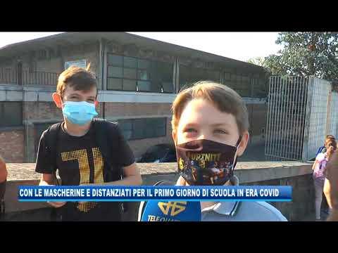 16/09/2020 - CON LE MASCHERINE E DISTANZIATI: PRIMO GIORNO DI SCUOLA NELL'ERA DEL COVID