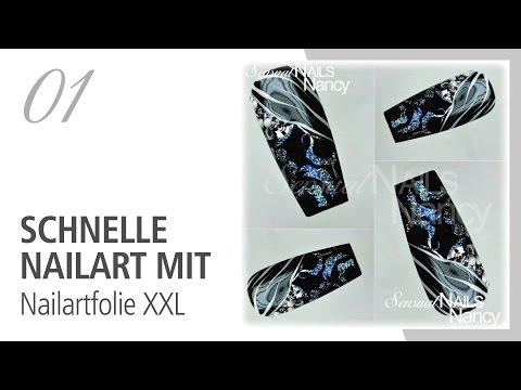 nail art veloce con foil xxl
