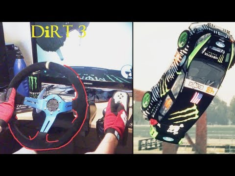 GYMKHANA drifting simulator Ken Block - 2x Barrel Roll, Logitech G27 Racing Steering Wheel gameplay.
