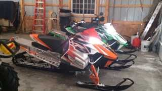7. 2 2013 XF 1100 SnoPro Turbo 177 HP ARCTIC CAT  Installed ROX SPEED FX Gen 2 Flex-Tec Handguards