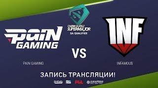 Pain vs Infamous, China Super Major SA Qual, game 2 [Mortalles]