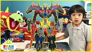 Power Rangers vs Justice League MegaZord battle Imaginext T-Rex Dinosaur SuperHeroes Toys Play
