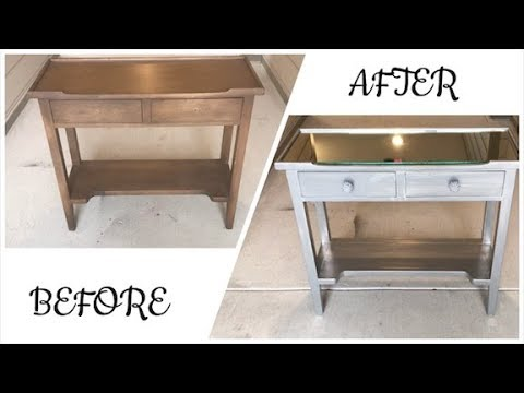 DIY Mirrored Side Table: From Bland to Glam!