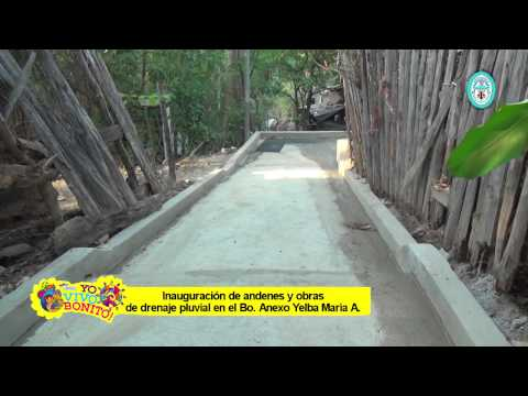 Construcción de andenes en el Bo. Anexo Yelba Maria Antúnez