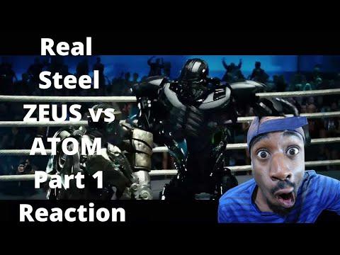 Real Steel ZEUS vs ATOM Part 1 Reaction