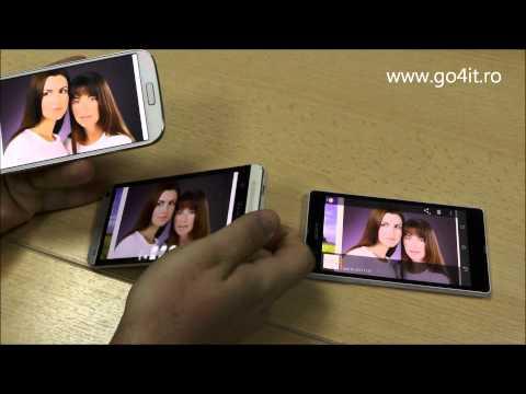 Galaxy S4 vs One vs XPERIA Z - ecran