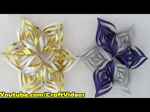 How to make Snowflakes out of paper easy