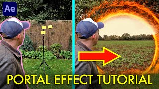 How to step through a MAGIC PORTAL in one take! | After Effects Tutorial
