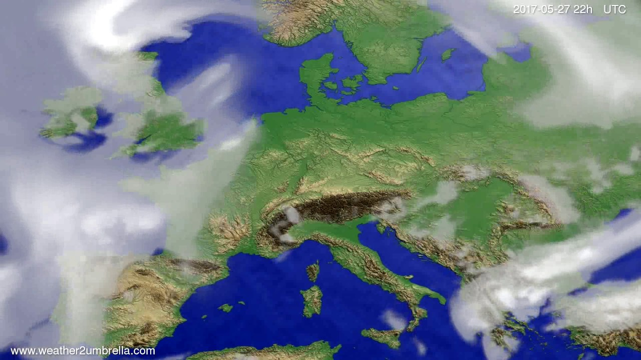 Cloud forecast Europe 2017-05-25