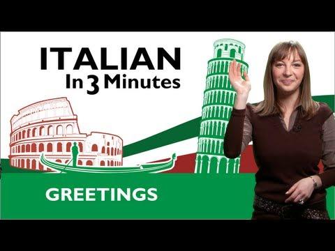 Grüßen auf Italienisch