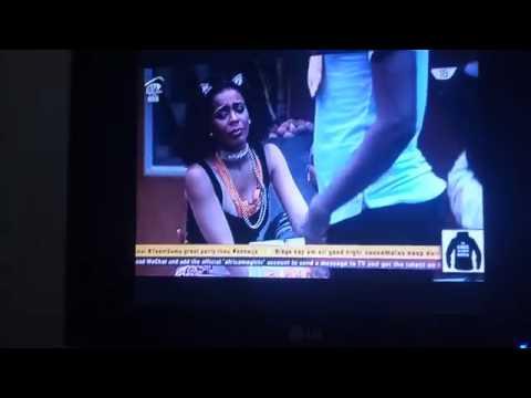 Tboss Kisses And Romances Miyonse As They Anticipate His Eviction - Big Brother Naija