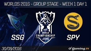 SSG vs SPY - World Championship 2016 - Group Stage Week 1 Day 1
