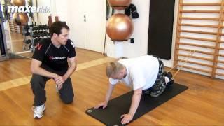 Planke med knæløft