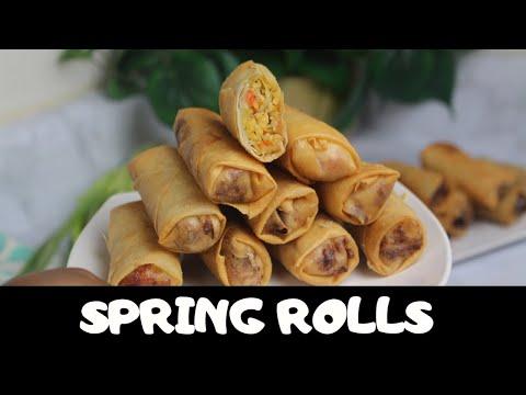 NIGERIAN SPRING ROLLS RECIPE | Chicken  spring rolls | Nigerian food