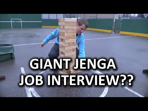 mega - What could make Giant Jenga more fun? Making it someone's job interview!! Amazon link: http://geni.us/2Q0e Music Credit: Title: Puppet - Scribble (feat. The Eden Project) Video: http://youtu.be/...