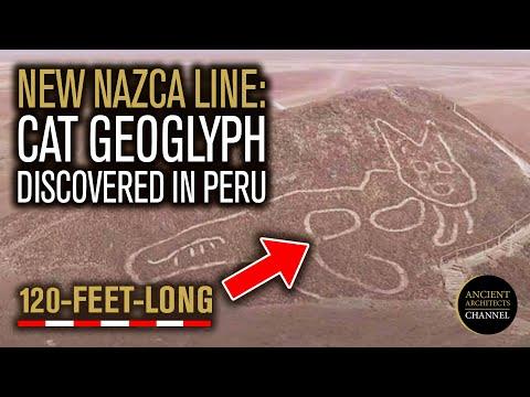 Nieuwe Nazca-lijn: 120 voet lange kat Geoglyph ontdekt
