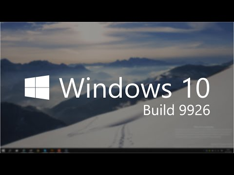 Windows 10 Build 9926 - Updated UI, C...