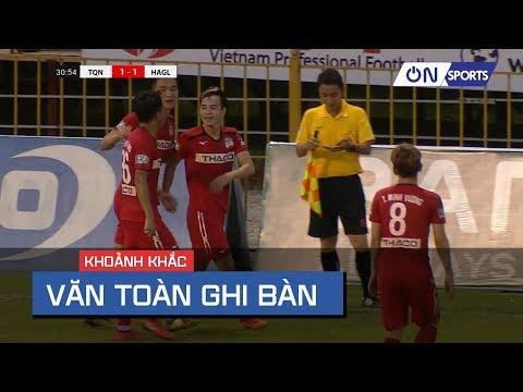 Văn Toàn chọn vị trí và dứt điểm ghi bàn góc hẹp cực chất | TQN vs HAGL - Thời lượng: 79 giây.