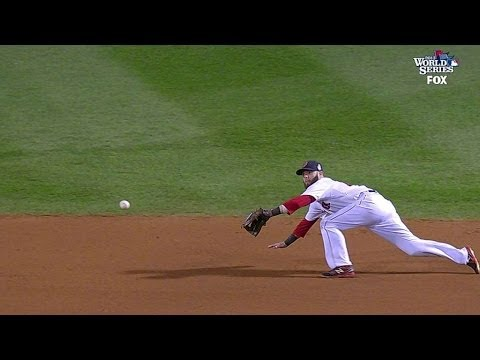 Video: Pedroia dives to save a run in the fourth