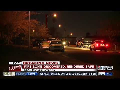 Pipe bomb discovered in North Las Vegas