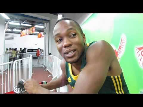 Video: South Africa's Henricho Bruintjies & Akani Simbine on 4x100m relay exit