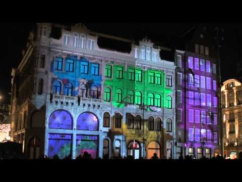 mapping - On 22, 23 & 24 November 2010, H&M brought their flagship store in Amsterdam to live with a 3D projection mapping on the historic building. For over 3 minutes...