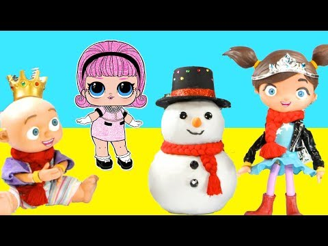 LOL Play Doh Stopmotion Claymation Compilation with Ellie Sparkles Baby Brother