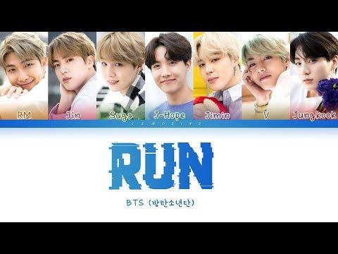 BTS (방탄소년단) - RUN [Color Coded Lyrics/Han/Rom/Eng/가사]