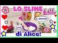 IL NOSTRO FLUFFY SLIME....ANZI DI ALICE! #BABOUTUTORIAL lol surprise By Lara e Babou