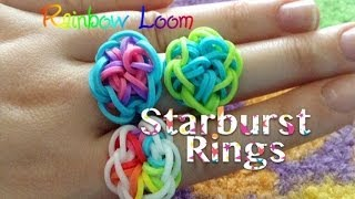 EASY Rainbow Loom Starburst Rings - YouTube