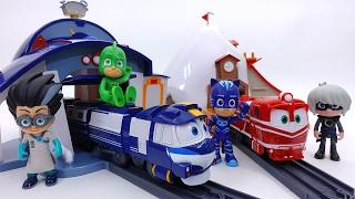 Video Express Robot Trains Give PJ Masks a Ride~! Kay & Alf House & Rail Set MP3, 3GP, MP4, WEBM, AVI, FLV Juli 2018