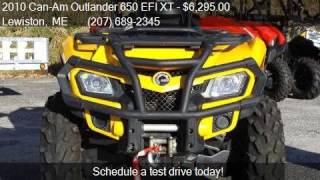 7. 2010 Can-Am Outlander 650 EFI XT  for sale in Lewiston, ME 0