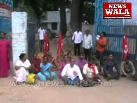 CPI activists staged dharna for drinking water problem at Purana Pul