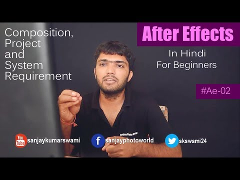 #Ae-02 Projects And Composition In Adobe After Effects [Hindi] For Beginners