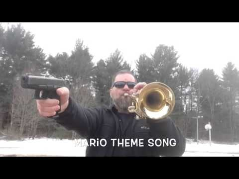 Firearms Safety Instructor Performs a Trumpet and Pistol Cover of the Super Mario Bros Theme