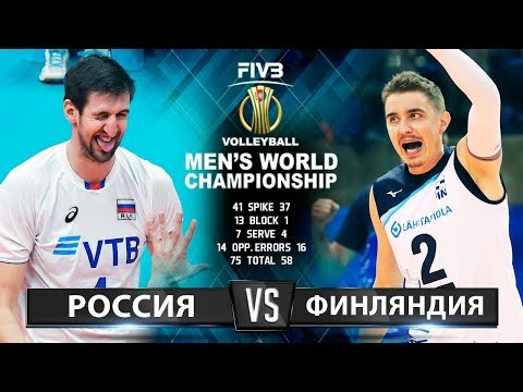 Волейбол   Россия vs. Финляндия   Чемпионат Мира 2018   Лучшие моменты игры