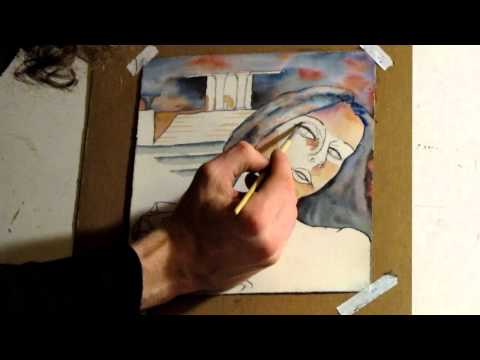 The Spartan Lady (time lapse art) Watercolor Painting (part 2)
