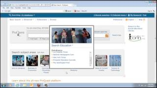 HM600DE: How To Search And Find Full Text Articles In ProQuest - Professor Tai