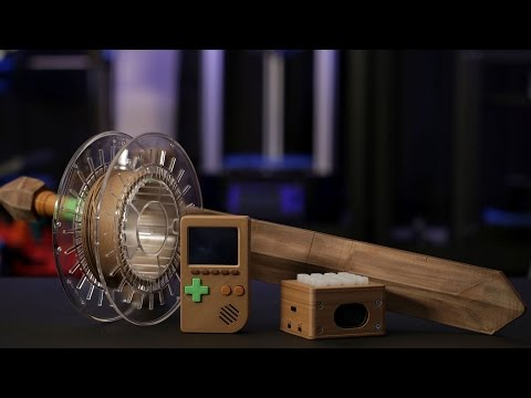 3D Printing with Bamboo Wood Filament (видео)