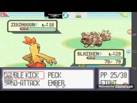 There is a blizzard POKÉMON Sapphire #13