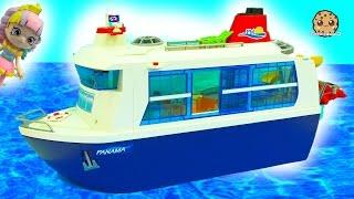 Strange Cruise Ship Trip - Shopkins Happy Places Shoppies Rainbow Kate Playmobil Vacation  Toy Video